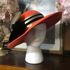 VINTAGE 1980'S DEBORAH NEW YORK EMBELLISHED HAT